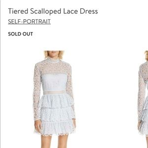 Self-portrait tiered scallop lace dress